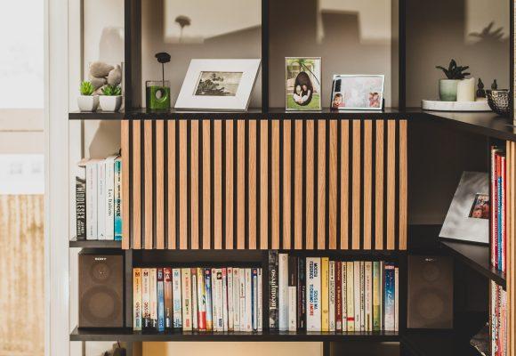 Bibliothèque meuble TV secrétaire