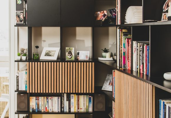 Combiné bibliothèque, meuble TV & secrétaire