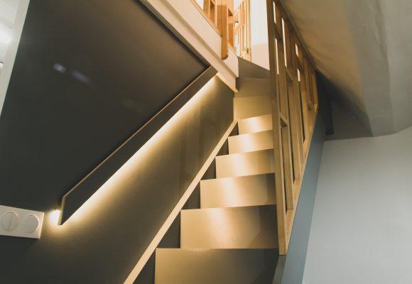 Habillage escalier et mur